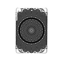 Black Lace Kaleidoscope On White iPad Mini 2 Hardshell Cases