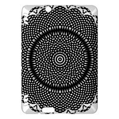Black Lace Kaleidoscope On White Kindle Fire Hdx Hardshell Case