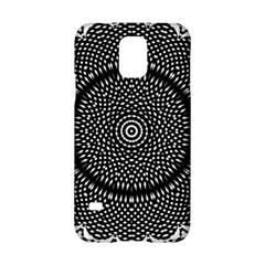 Black Lace Kaleidoscope On White Samsung Galaxy S5 Hardshell Case