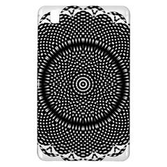 Black Lace Kaleidoscope On White Samsung Galaxy Tab Pro 8 4 Hardshell Case