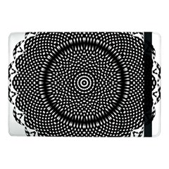 Black Lace Kaleidoscope On White Samsung Galaxy Tab Pro 10 1  Flip Case