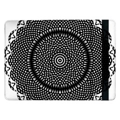 Black Lace Kaleidoscope On White Samsung Galaxy Tab Pro 12.2  Flip Case