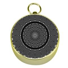 Black Lace Kaleidoscope On White Gold Compasses