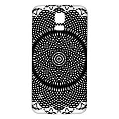 Black Lace Kaleidoscope On White Samsung Galaxy S5 Back Case (white)