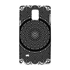 Black Lace Kaleidoscope On White Samsung Galaxy Note 4 Hardshell Case