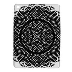 Black Lace Kaleidoscope On White iPad Air 2 Hardshell Cases
