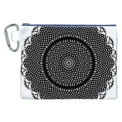 Black Lace Kaleidoscope On White Canvas Cosmetic Bag (xxl)