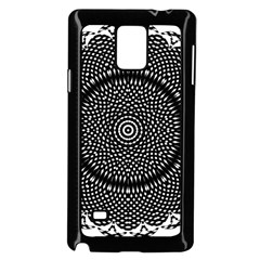 Black Lace Kaleidoscope On White Samsung Galaxy Note 4 Case (black)