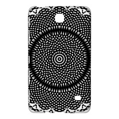 Black Lace Kaleidoscope On White Samsung Galaxy Tab 4 (7 ) Hardshell Case