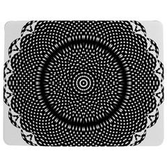 Black Lace Kaleidoscope On White Jigsaw Puzzle Photo Stand (Rectangular)