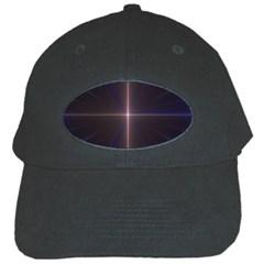 Color Fractal Symmetric Blue Circle Black Cap