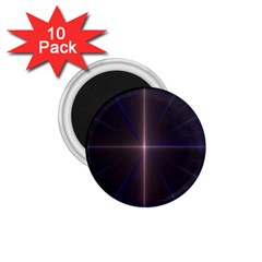 Color Fractal Symmetric Blue Circle 1.75  Magnets (10 pack)