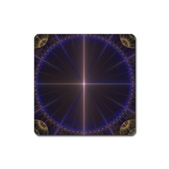 Color Fractal Symmetric Blue Circle Square Magnet