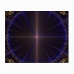 Color Fractal Symmetric Blue Circle Small Glasses Cloth