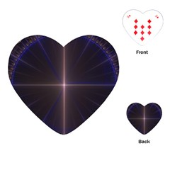 Color Fractal Symmetric Blue Circle Playing Cards (Heart)