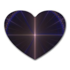 Color Fractal Symmetric Blue Circle Heart Mousepads