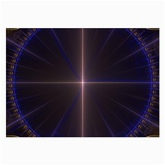 Color Fractal Symmetric Blue Circle Large Glasses Cloth
