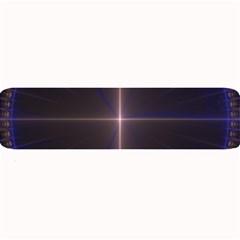 Color Fractal Symmetric Blue Circle Large Bar Mats