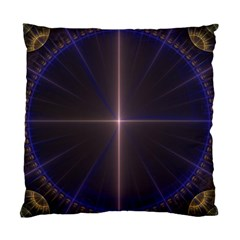 Color Fractal Symmetric Blue Circle Standard Cushion Case (one Side)