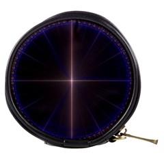 Color Fractal Symmetric Blue Circle Mini Makeup Bags