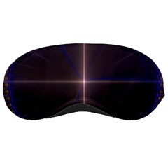Color Fractal Symmetric Blue Circle Sleeping Masks