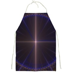 Color Fractal Symmetric Blue Circle Full Print Aprons