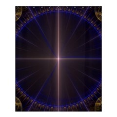 Color Fractal Symmetric Blue Circle Shower Curtain 60  X 72  (medium)