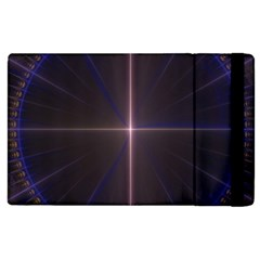 Color Fractal Symmetric Blue Circle Apple Ipad 2 Flip Case