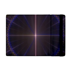 Color Fractal Symmetric Blue Circle Apple Ipad Mini Flip Case