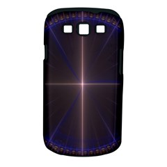 Color Fractal Symmetric Blue Circle Samsung Galaxy S Iii Classic Hardshell Case (pc+silicone)