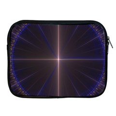 Color Fractal Symmetric Blue Circle Apple Ipad 2/3/4 Zipper Cases