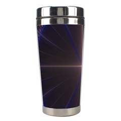 Color Fractal Symmetric Blue Circle Stainless Steel Travel Tumblers