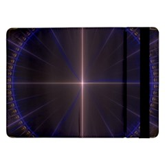 Color Fractal Symmetric Blue Circle Samsung Galaxy Tab Pro 12 2  Flip Case