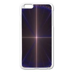 Color Fractal Symmetric Blue Circle Apple Iphone 6 Plus/6s Plus Enamel White Case