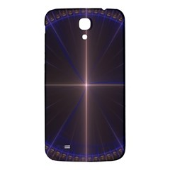 Color Fractal Symmetric Blue Circle Samsung Galaxy Mega I9200 Hardshell Back Case