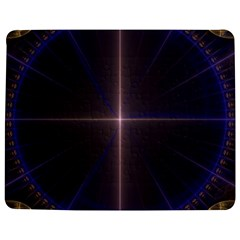 Color Fractal Symmetric Blue Circle Jigsaw Puzzle Photo Stand (rectangular)