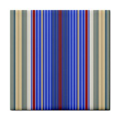 Colorful Stripes Background Tile Coasters