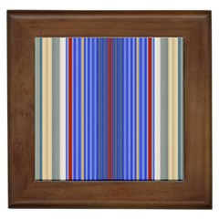Colorful Stripes Background Framed Tiles