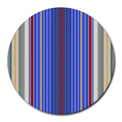 Colorful Stripes Background Round Mousepads