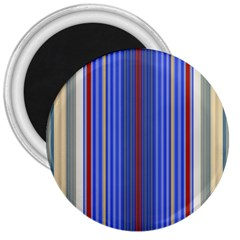 Colorful Stripes Background 3  Magnets