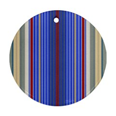Colorful Stripes Background Ornament (Round)