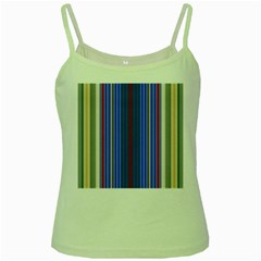 Colorful Stripes Background Green Spaghetti Tank
