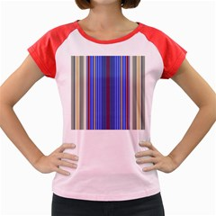 Colorful Stripes Background Women s Cap Sleeve T-Shirt