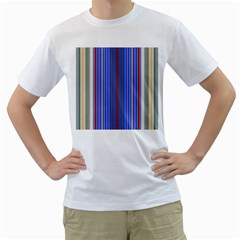 Colorful Stripes Background Men s T-Shirt (White) (Two Sided)