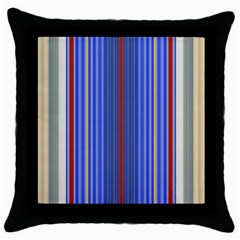 Colorful Stripes Background Throw Pillow Case (Black)
