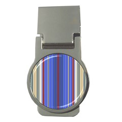 Colorful Stripes Background Money Clips (Round)