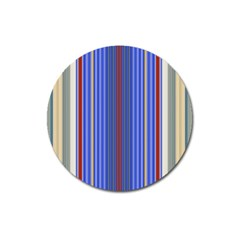 Colorful Stripes Background Magnet 3  (round)