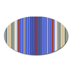 Colorful Stripes Background Oval Magnet