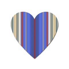 Colorful Stripes Background Heart Magnet