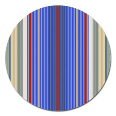 Colorful Stripes Background Magnet 5  (round)